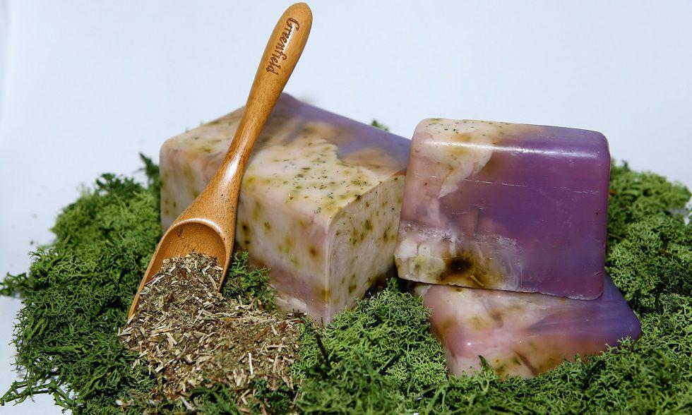 Натуральное мыло ручной работы с шалфеем