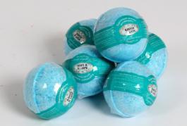 бурлящий шарик для ванн морские соли и минерали