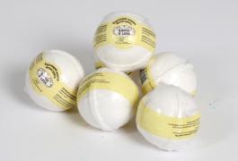бурлящий шарик для ванны ваниль