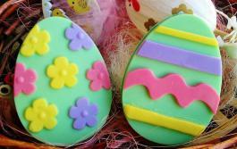 Мыло в форме пасхальных яиц