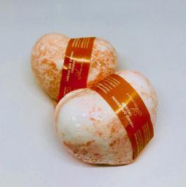 бомбочка для ванн с ароматом апельсина, апельсиновая бомбочка для ванн, бомбочка для ванн апелсьин, бурлящий шар для ванн апельсин